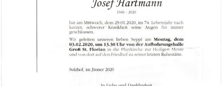 "R.I.P. Josef ""Seppl"" Hartmann"